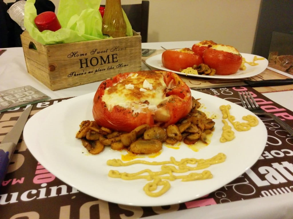 пълнен домат